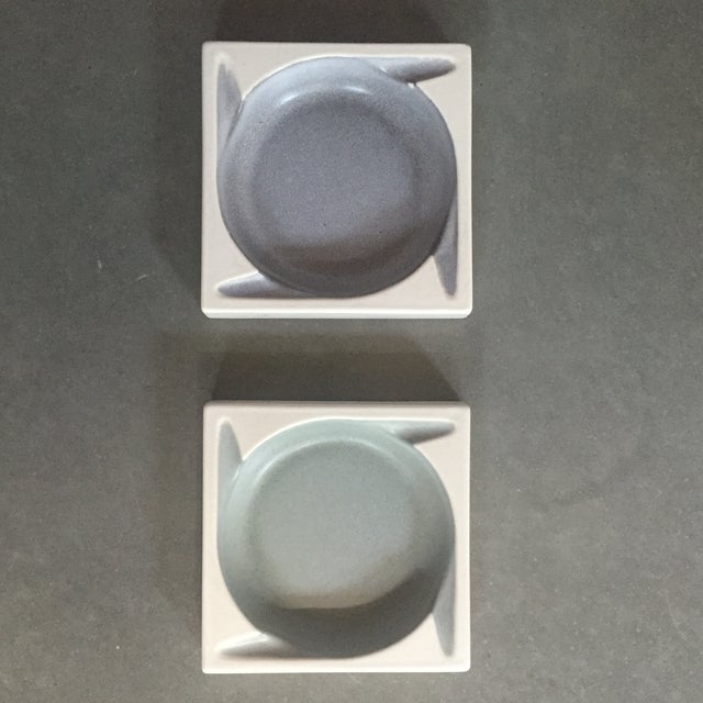 Image of Porcelain Ashtrays by Hyalyn - a Pair
