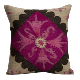 Silk & Cotton Embroidered Suzani Pillow