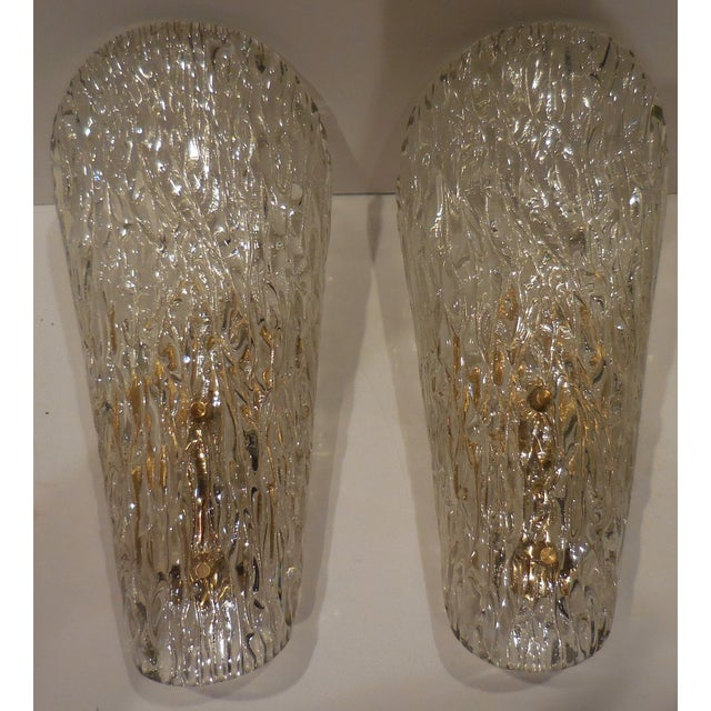 Vintage Textured Glass Sconces - Pair - Image 2 of 11