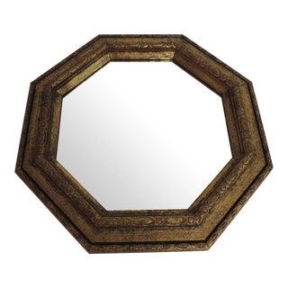 Vintage Wood Italian Gilded Mirror