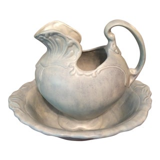Hand Painted Bowl & Pitcher