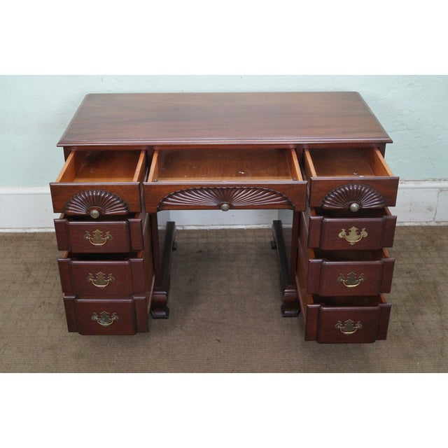 Vintage Mahogany Chippendale Style Writing Desk - Image 2 of 10