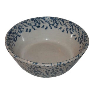 19th Century Spongeware Cream Bowl