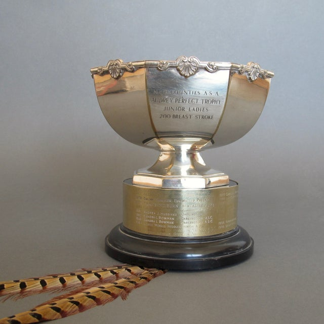 1970's Swimming Rose Bowl Trophy - Image 3 of 8
