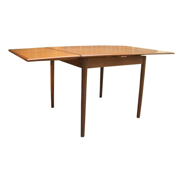Danish Modern Teak Draw Leaf Dining Table Chairish