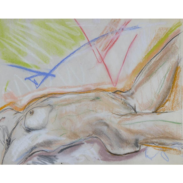 Sunbather Pastel Drawing on Paper - Image 1 of 3