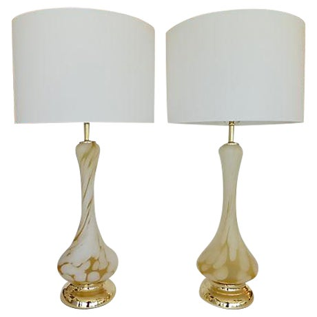 Image of Tall Mid-Century Murano Lamps