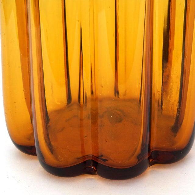 Blenko Amber Vase - Image 3 of 3