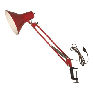 Fase Adjustable Red Metal Clip on Lamp