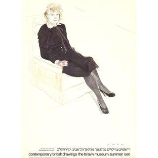"""David Hockney """"Celia, Paris"""" 1980 Poster"""