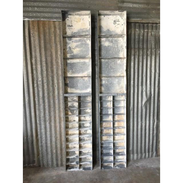 Vintage Large Industrial Metal Storage Shelf Unit - Image 2 of 11