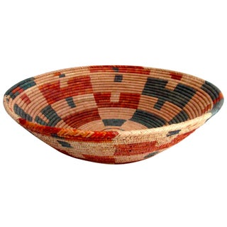 Hand Woven Natural Fiber Large Bowl