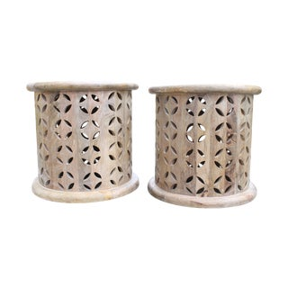 Moroccan Style Side Tables - A Pair