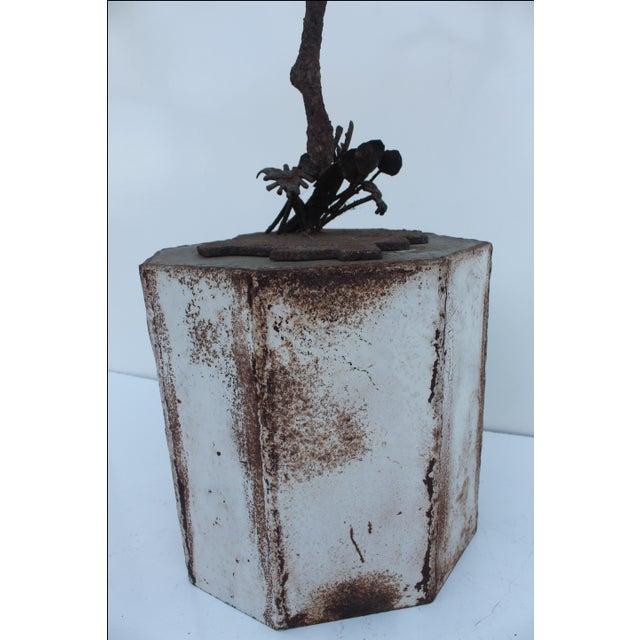 1970's Art Torch Cut Metal Floor Sculpture by Hambleton. - Image 8 of 11