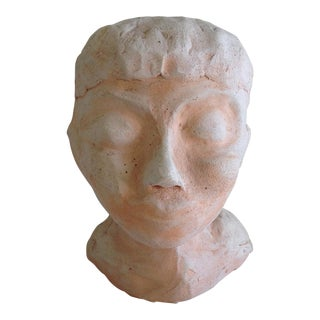Female Head Primitive Artisan Sculpture