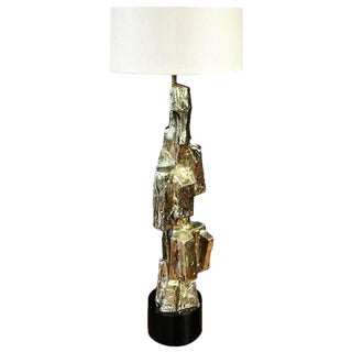 Maurizio Tempestini for Laurel Tall Brutalist Metal Table Lamp