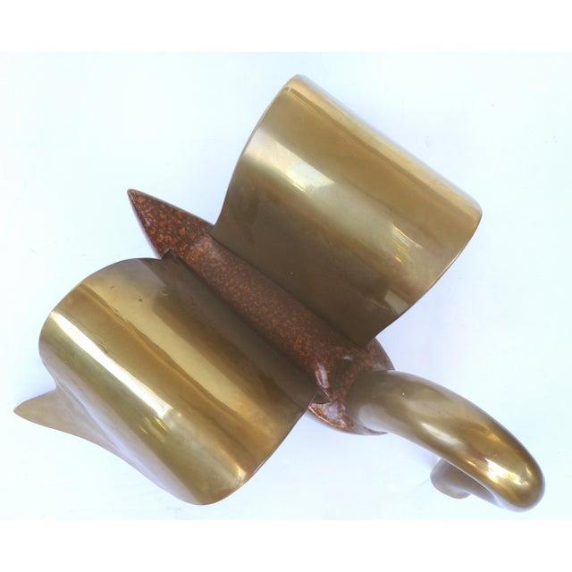 Brass & Tortoise Swan Coffee Table - Image 8 of 10