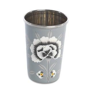 Fleur Enamelware Cups - Set of 4