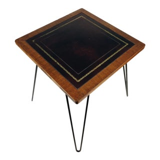 Vintage Hairpin Leg Accent Table