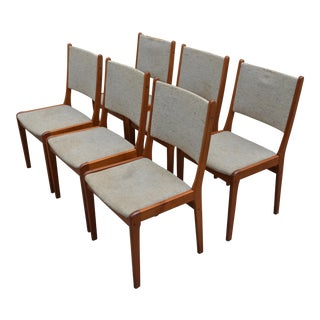 Farstrup Danish Modern Teak Dining Chairs - Set of 6