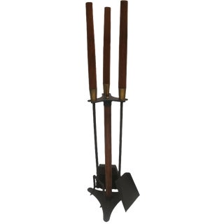 Mid-Century Modern Fireplace Hearth Tools - S/ 3