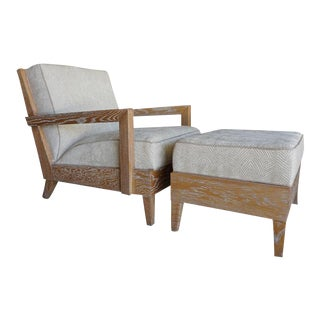 The Las Palmas Chair & Ottoman by Christopher Anthony Ltd.