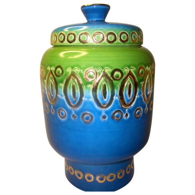 Image of Mid Century Vase Art Pottery Bitossi Jar