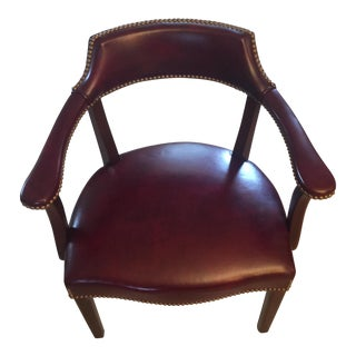 Hancock & Moore Leather Captain's Chair