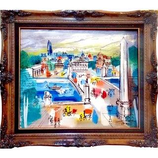 Charles Cobelle Paris Street Scene Oil Painting