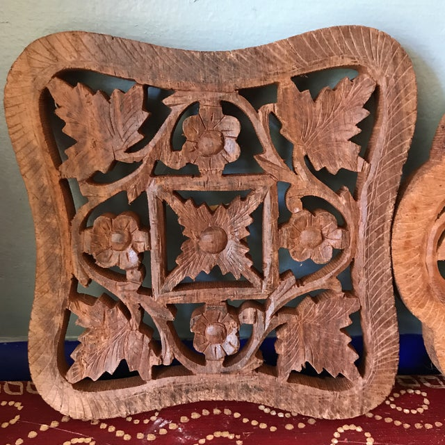 Hand-Carved Trivets - Set of 3 - Image 6 of 10