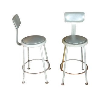 Industrial Stools - Pair