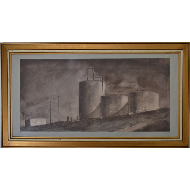 Bjorn Rye 'Approaching Storm' Charcoal on Paper - Image 1 of 3