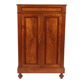 1870s Walnut Louis Philippe-Style Cabinet