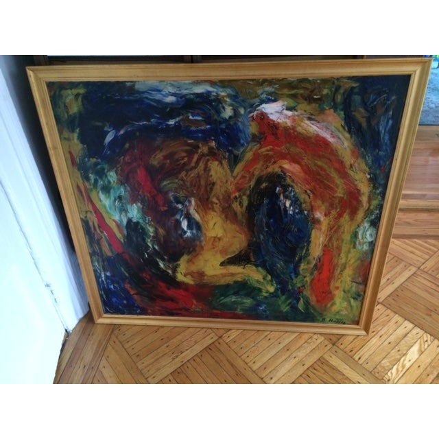 Abstract Expressionist Original Painting - Image 3 of 3