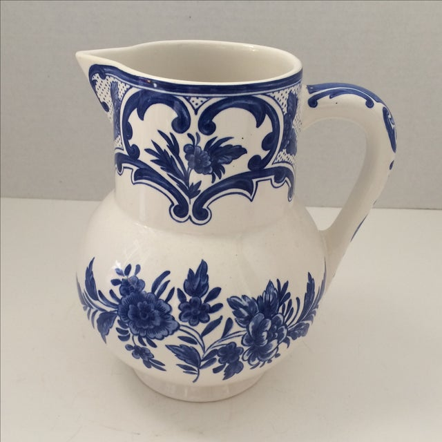 Tiffany & Co Delft Blue & White Pitcher - Image 2 of 6