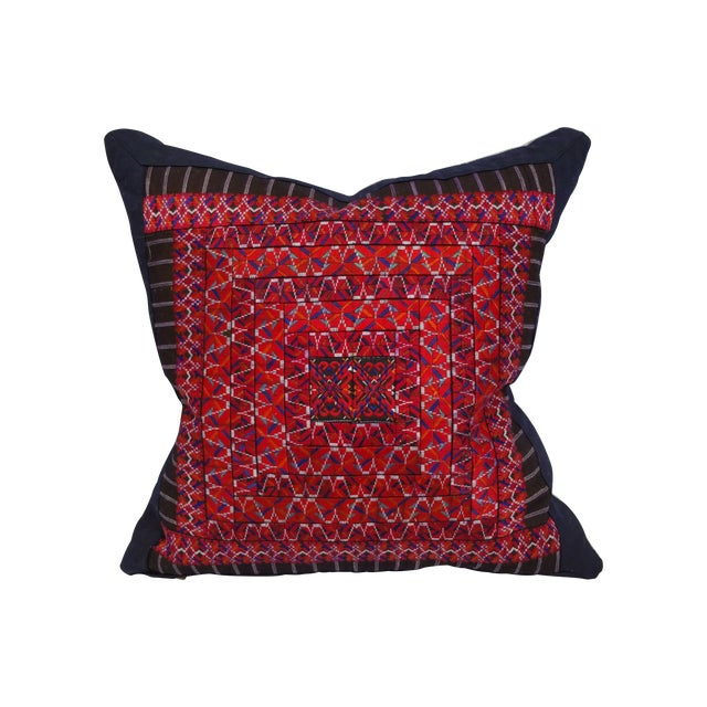Silk Embroidered Baby Carrier Pillow - Image 1 of 5