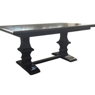 Dark Wood Trestle Dining Table