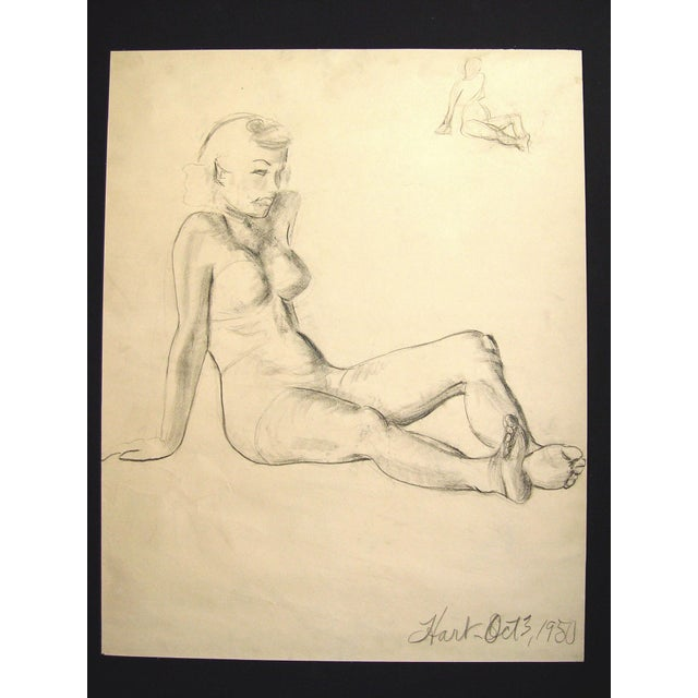 Image of Figural Study in Charcoal, 1950