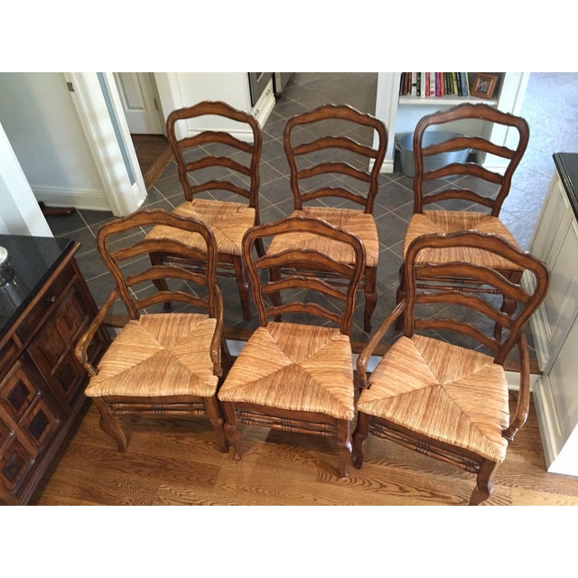 Hooker Furniture Ladder Back Chairs - Set of 6 - Image 10 of 11