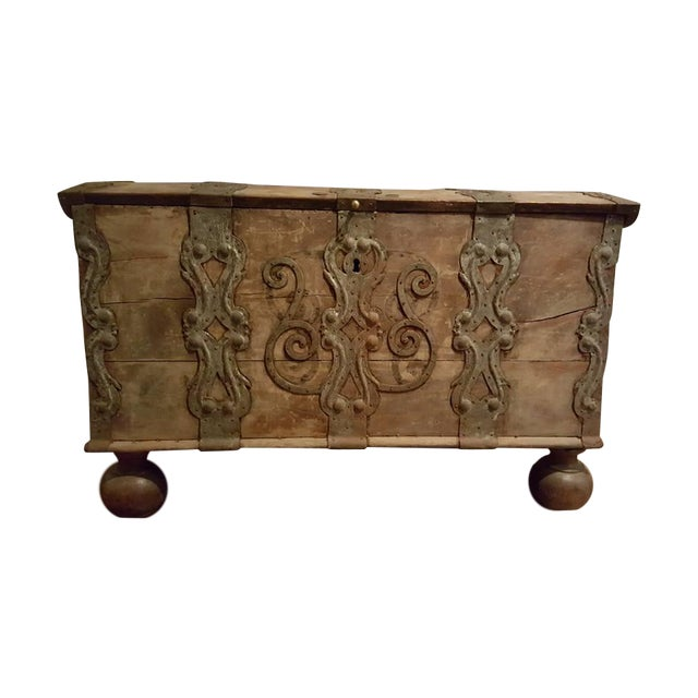17th Century Iron Banded Coffer - Image 1 of 7