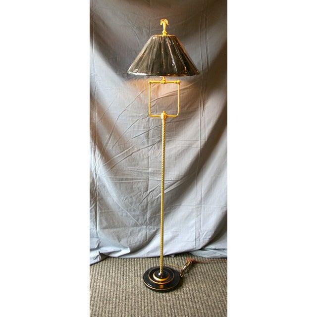 Modern Brass Floor Lamp - Image 3 of 10