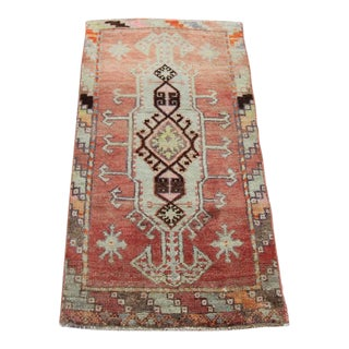 "Vintage Turkish Oushak Tribal Rug- 1'8"" x 3'2"""