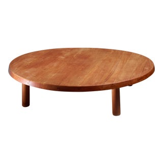 Pierre Chapo Large and Low Elm T02 Coffee Table, France, 1970s