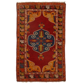 Hand-Knotted Wool Turkish Rug - 3′11″ × 6′5″