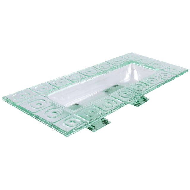 Floating Green Glass Centerpiece Tray - Image 1 of 11