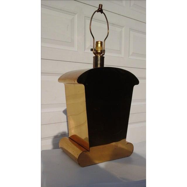 Brass Art Deco Chapman Lamp - Image 3 of 6