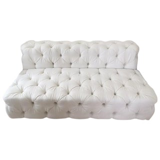 Restoration Hardware Linen Two Seater
