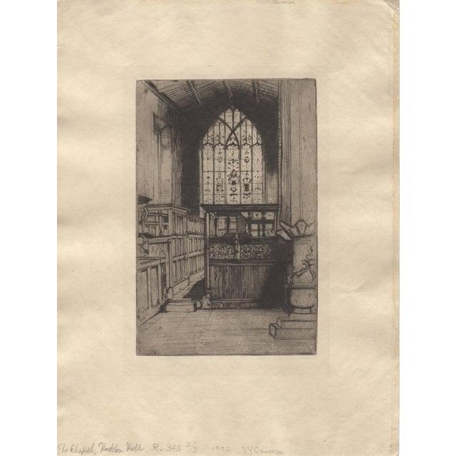 "Sir David Cameron ""The Chapel"" Etching C.1902 - Image 2 of 3"