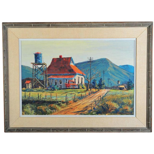 Red Roof Farm House -Oil Painting by Ben Abril - Image 1 of 11