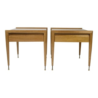 John Keal for Brown Saltman Mahogany Side Tables - a Pair